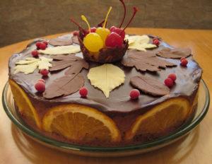Шоколадный торт осенние грезы