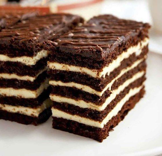 Торт Спартак медово-шоколадный