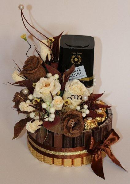 Торт из конфет и шоколада мужчине