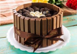 Торт из шоколадок своими руками