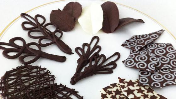 Узоры из шоколада для украшения