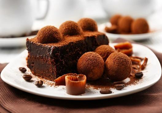 Вкусный трюфельный торт