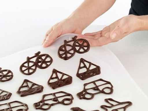 ручной трафарет для шоколадных фигурок